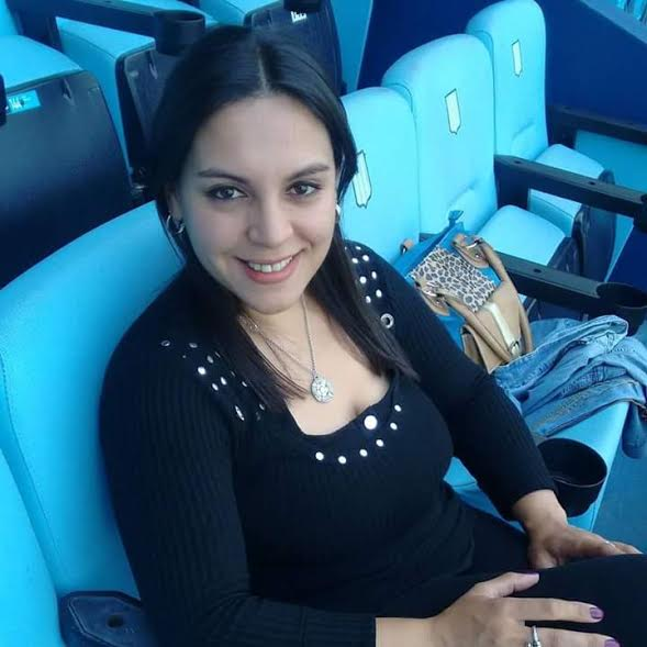 María Fernanda Millan en la platea del Cilindro de Avellaneda.