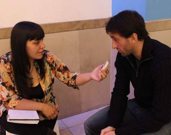 Entrevistando a Diego Milito.