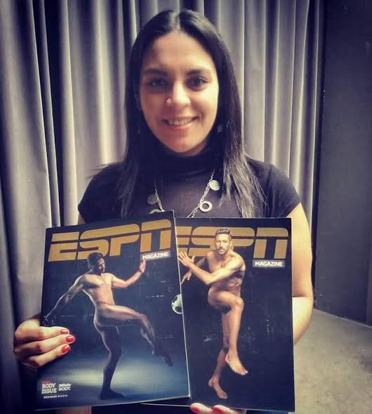 Con la edición especial Body Issue de la revista ESPN Magazine.